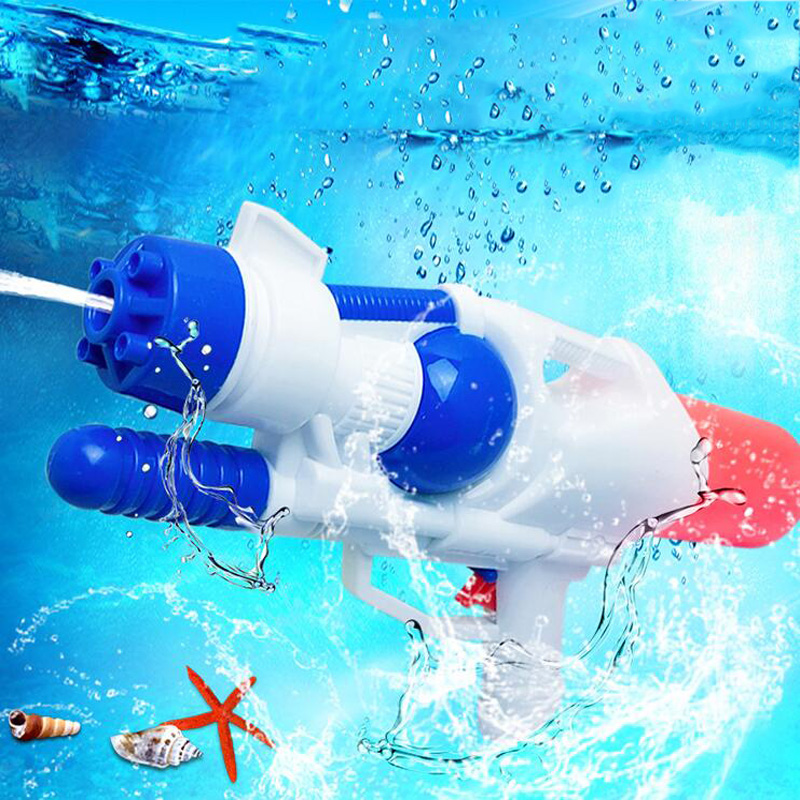 Children Playing Water Pressure Water Gun Outdoor Pull-Type Toy Gun Children Shooting Toy Summer Beach Plastic Water Cannon Toy