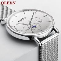 OLEVS top brand Couple watch for lovers Waterproof Clock Luxury Fashion Milan Steel Men Women Watches Quartz Wrist Watch relogio