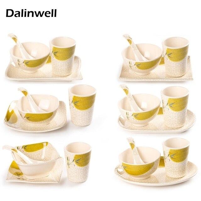 4PCS/set Restaurant Hotel Melamine Tableware Imitation Porcelain Dishes Bowls Spoon Cup Set Fast Food  sc 1 st  AliExpress.com & 4PCS/set Restaurant Hotel Melamine Tableware Imitation Porcelain ...