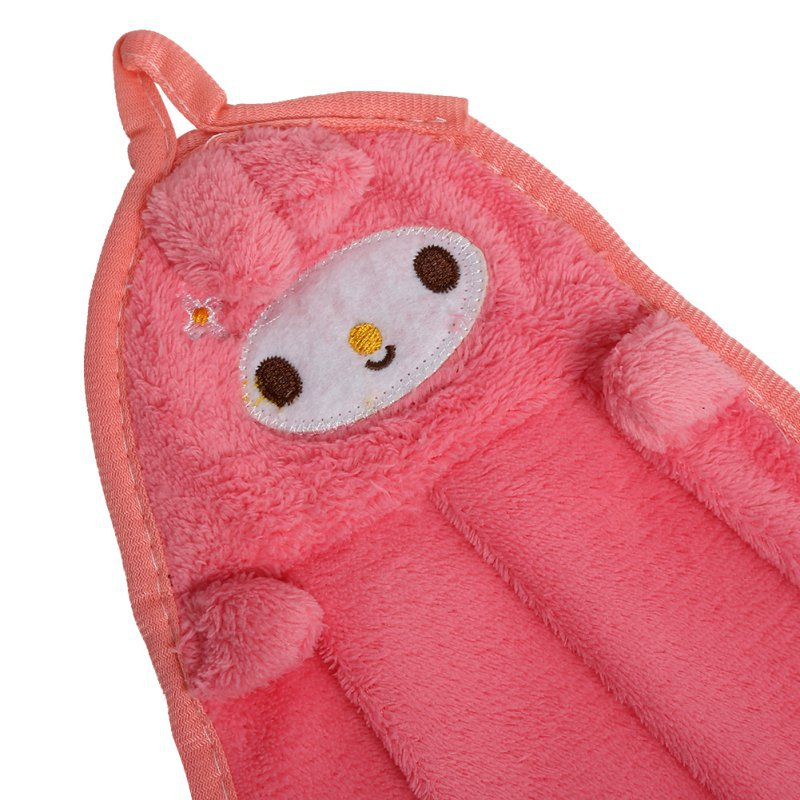 Baby Towels Super Soft Coral Fleece Kid Child Towel Cartoon Baby Wipe Sweat Hung Towel Towel