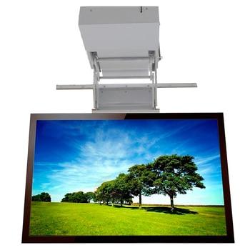 2019 New motorized electric hidden flip down false ceiling Led lcd tv lift mount hanger holder remote control function 110v-250v