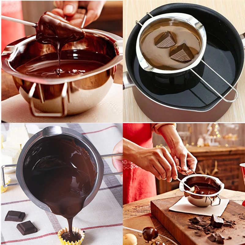 คุณภาพสูงสแตนเลสสตีลช็อคโกแลต & Milk & Honey & Butter ละลายเตาหม้อร้อนชามพร้อม Handle Baking Pastry ครัวเครื่องมือ