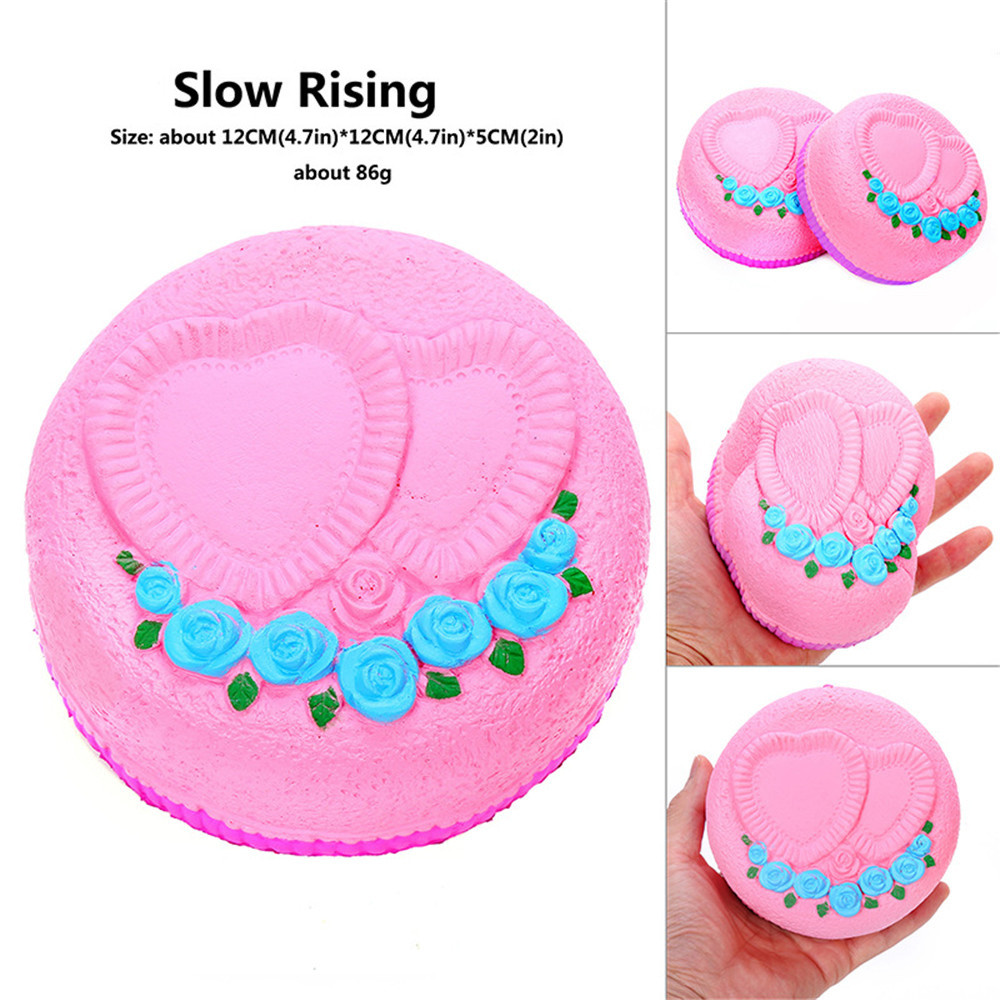 Squishy Squishies Rose Heart Cake Super Poopsie Slime Surprise Squishi Slow Rising Scented Relieve Stress Toy Squishy W708