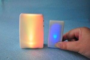 Image 3 - XINSILU Nuovo prodotto di casa intelligente campanello della porta, a distanza senza fili musica flash Colorato campanello per non udenti (1 trasmettitore + 2 ricevitori)