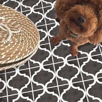 3D Vintage Tile Floor Ground Sticker Self adhesive Bathroom Kitchen Wall 20x300