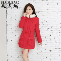 STAINLIZARD Thick Long 9 Colors Jacket Women Cotton 2017 Warm Snow Women Vintage Ladies Clothing Casual