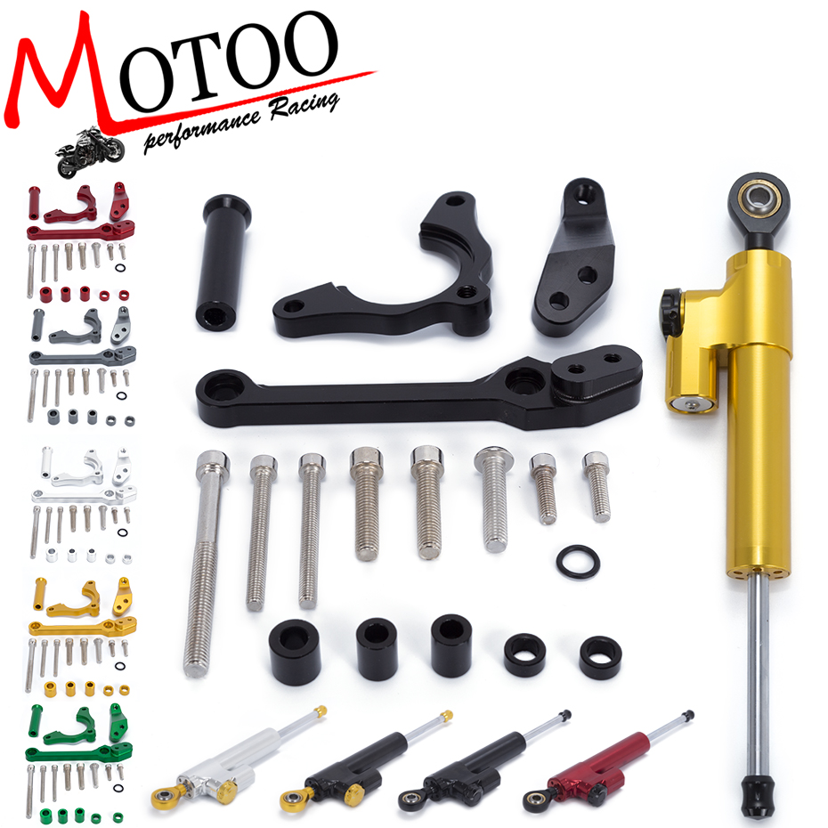 Motoo - Motorcycle CNC Steering Damper Stabilizerlinear Reversed Safety Control with Bracket for KAWASAKI Z900 Z 900 2017 gt motor motorcycle cnc steering damper stabilizerlinear reversed safety control with bracket for yamaha mt09 mt 09 fz 09 13 17