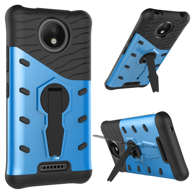360 Turn Stand Heat Radiation Shockproof X Play Sniper Case For Motorola  Moto C Plus Hybrid
