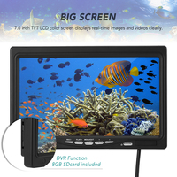 7 Inch LCD Color Screen Video Monitor with 8GB Memory Card Replacement Screen Accessory for Underwater Fishing Camera Fish Finder