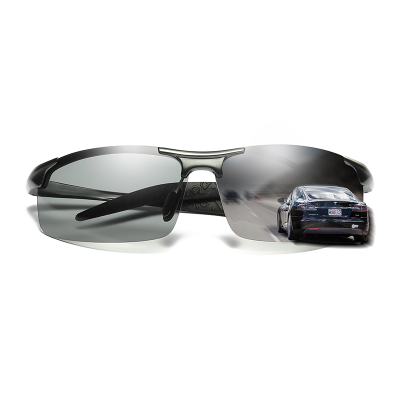 Image 4 - ZJHZQZ Mens UV400 Fishing Polarized Photochromatic Sunglasses Aluminium Magnesium Outdoor Driving Transition Chameleon LensMens Sunglasses   -