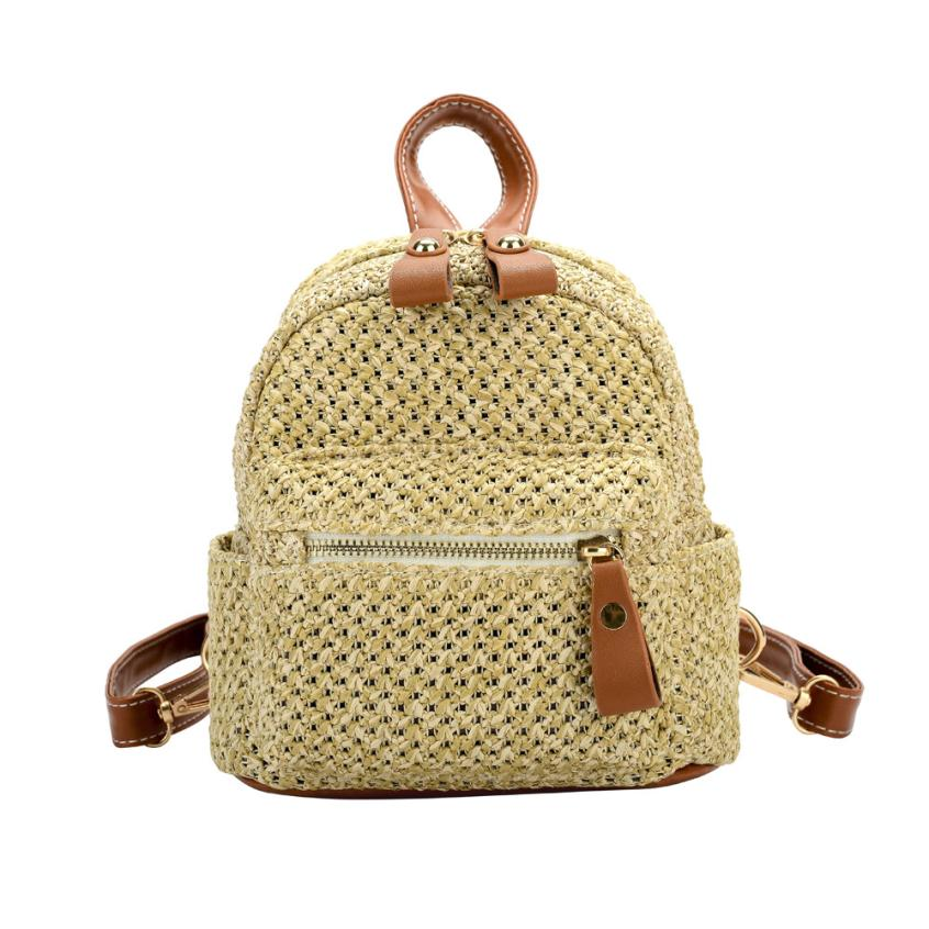 Weave Bags Mini Backpack Women Travel School Bag Girl Rucksack Female  Design Handmade Knitting Small Backpacks Casual Daypack 23 f1213ed969ac3