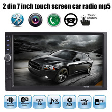 7 pulgadas Bluetooth FM TF AUX USB EN 2 DIN tamaño Del Coche MP4 Reproductor MP5 HD Pantalla Táctil 2-DIN TFT Car Audio Video Radio de Coche Manos Libres