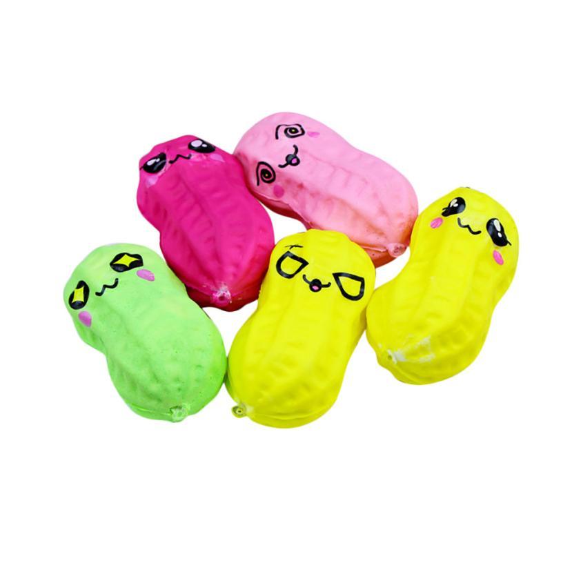Dropshopper 8cm Squishy Cute Smiling Peanut Low Rising Skuishy Healing Fun Kids Kawaii Kids Adult Toy Stress Reliever Decor