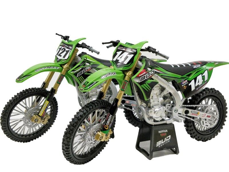 1:12 Newray Kawasaki KX450 Diecast Miniature Bikes Motocross No Box