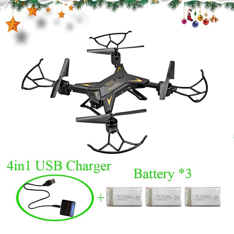 RC Drone Quadcopter Drones avec 1080 p WIFI Caméra HD WiFi FPV Maintien D'altitude Sans Tête Mode Dron une Action À Long Temps