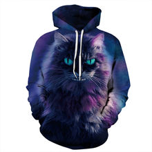 Terror Cats 3d Print Novelty Sweatshirts Men/Women Autumn Winter Hooded Tops Space