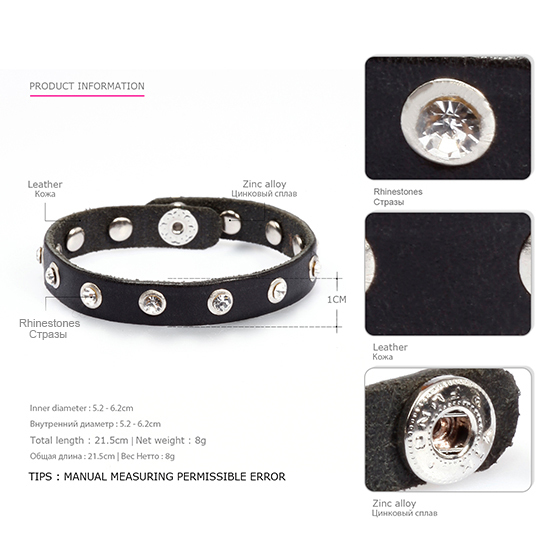 EManco Leather Bracelet Men...