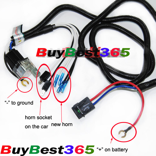 A Supertone Horn Wiring Harness on building a horn, painting a horn, wiring an amp, mounting a horn, wiring directional signals, wiring lights,