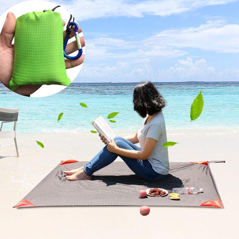 Bright 200 X 200cm Beach Mat Sand Free Magic Mat Beach Sandless Foldable Outdoor Waterproof Blanket Camping Picnic Folding Mat Sports & Entertainment