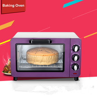 Hot sale Electric Mini Bakery Oven with timer for making bread, cake, pizza 15L small household Multi function cake baking oven