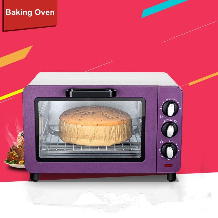 Offre spéciale Mini four de boulangerie électrique avec minuterie pour faire du pain, gâteau, pizza 15L petit four de cuisson multifonction domestique
