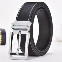 лучшая цена 2019 New Cowhide Belts for Men Designer Strap Male Pin Buckle Belt Vintage Belt Cowboy Jeans Girdle Genuine Leather Belts