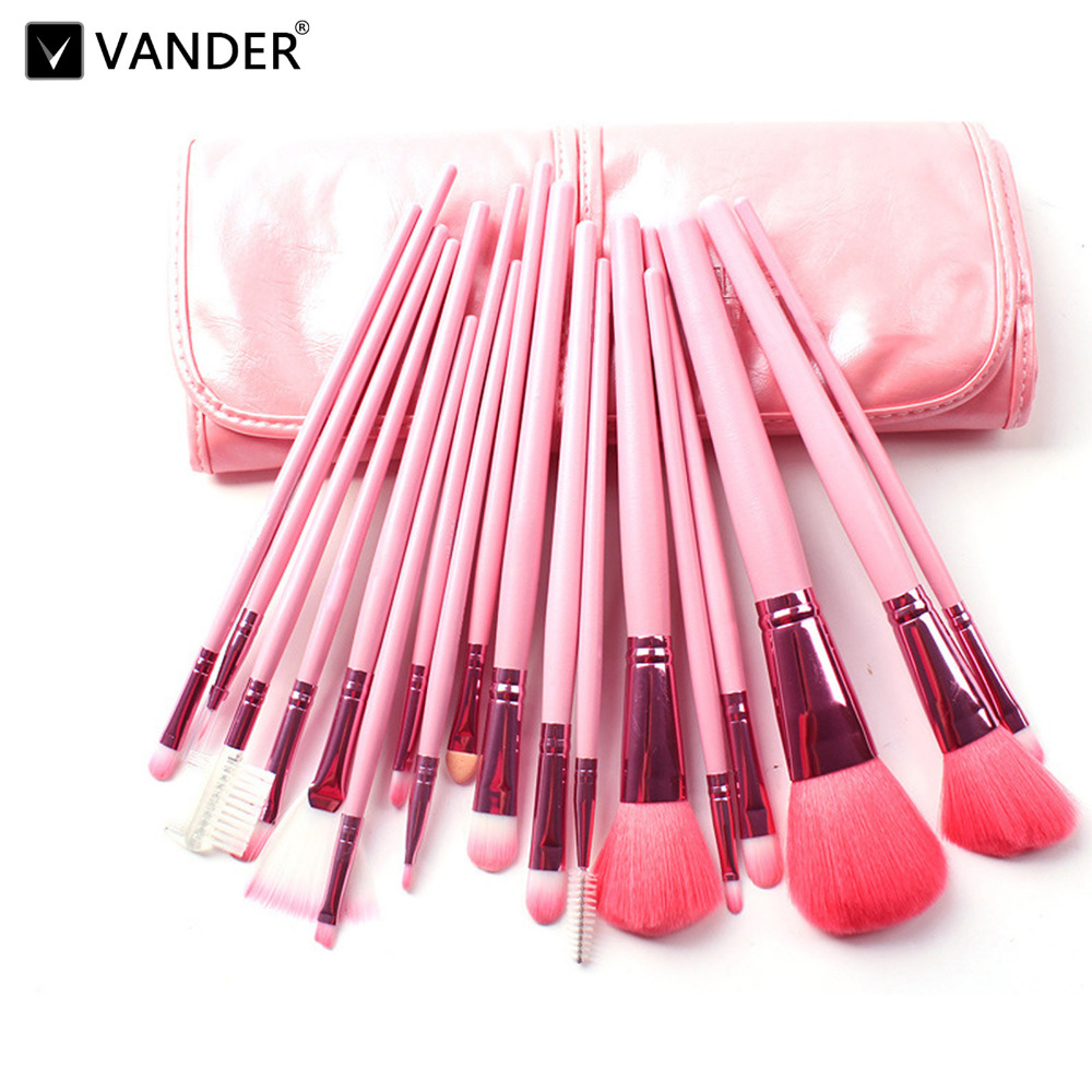 Professional 18 pcs Makeup Brush Set Foundation Eyeshadow Eyeliner Lip Cosmetics Brushes Toiletry Kit pincel maleta de maquiagem acevivi 12pcs makeup brush kit professional cosmetic set powder foundation eyeshadow eyeliner lip brush tool pincel maquiagem