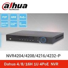 Dahua 4 ports  POE  NVR4216-P  8CH/16CH/32CH NVR Recorder HDMI Onvif NVR4208 NVR4216 NVR4232 economical Dahua NVR, free shipping