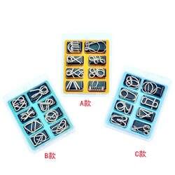 8 шт./компл. металлический провод головоломка IQ ум мозг тизер Пазлы игра взрослые дети Монтессори Ранние развивающие игрушки хороший