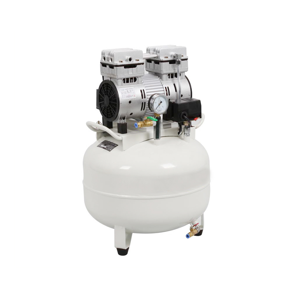 New One Driving One 30L Medical Noiseless Oilless Dental Air Compressor