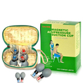 8 Prata de Vácuo do agregado familiar de acupuntura e moxabustão Terapia Haci Magnética Acupressão Ventosa TCM Escavação Conjunto de Cuidados de Saúde