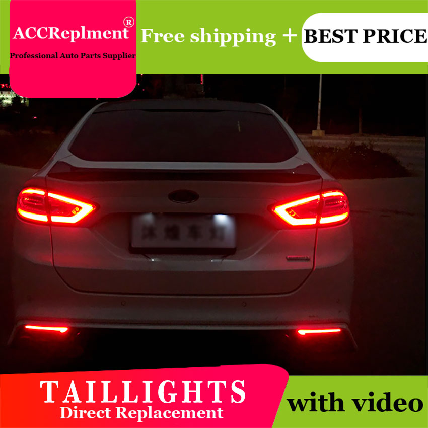 4PCS Car Styling for Ford mondeo Taillights 2011 2014 for mondeo LED Tail Lamp Turn Signal