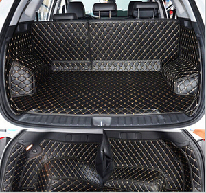 Image 2 - High quality Full set car trunk mats for Hyundai Tucson 2017 waterproof boot carpets cargo liner mat for Tucson 2016