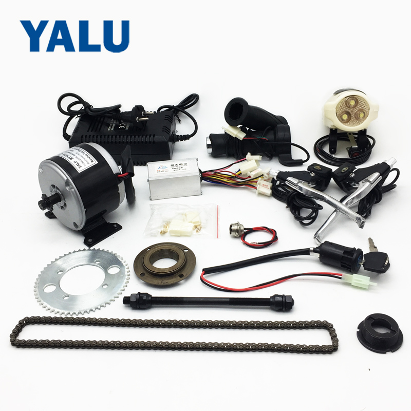 24V 250W DIY High Speed Electric Ebike Motor Kit Scooter 25H Chain Drive With Chain wheel And Freewheel Charger Electric Bicycle