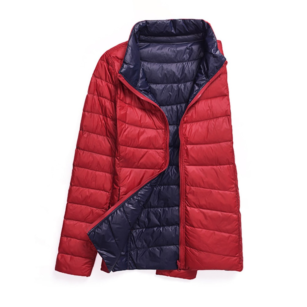 5XL 6XL Winter Down Jackets Women Duck Down Coats Slim Warm Parka Casual Coat Ultra Light Autumn Outerwear Double-side Plus Size