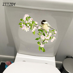 ZTTZDY 23.5*21.7CM Ancient Flowers And Birds Home Living Room Wall Sticker WC Toilet Decal T2-0236