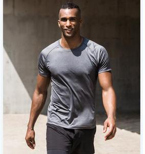 Image 4 - Мужская быстросохнущая рубашка Xiaomi, влагопоглощающие дышащие Светоотражающие быстросохнущие Топы с коротким рукавом для бега и фитнеса