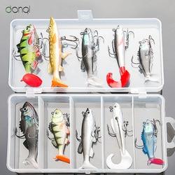 DONQL Pesca miękka przynęta zestaw zestaw Wobblers sztuczna przynęta silikonowe przynęty Sea Bass Carp ołów wędkarski zacisk|Przynęty|Sport i rozrywka -
