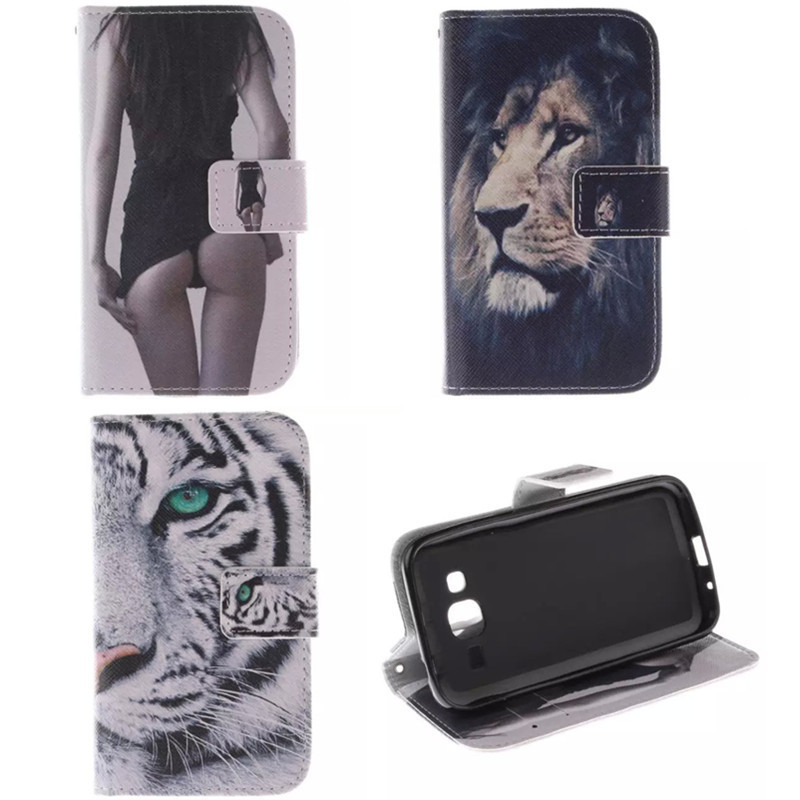 Fashion Covers owl and cat woman Sexy Girl PU leather case For Samsung Galaxy Core Prime Prevail LTE G360 G3608 G3609 LH