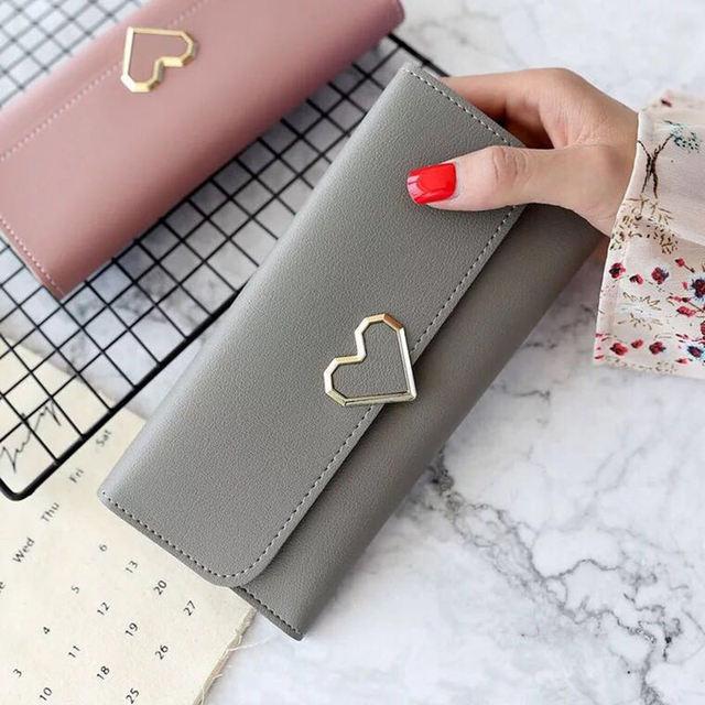 2018 New Designs Fashionable Luxury Women's Wallets Wallets Women's Wallets perse Portomonee Portfolio Ladies Long Style Cartera