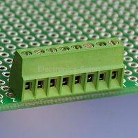 100pcs 8 Poles 2.54mm/0.1 PCB Universal Screw Terminal Block