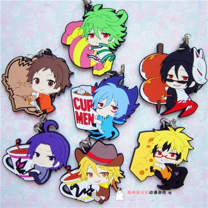 Servamp Anime VAMPIRE MAHIRU KURO SNOW LILY JEJE HYDE Food Version Rubber Keychain vampire dance
