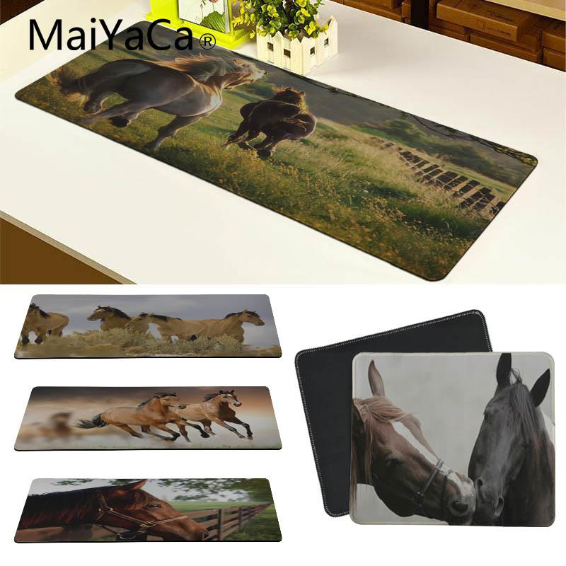 MaiYaCa In Stocked Horse DIY Design Pattern Game mousepad Size for 180*220 200*250 250*290 300*900 and 400*900*2mm