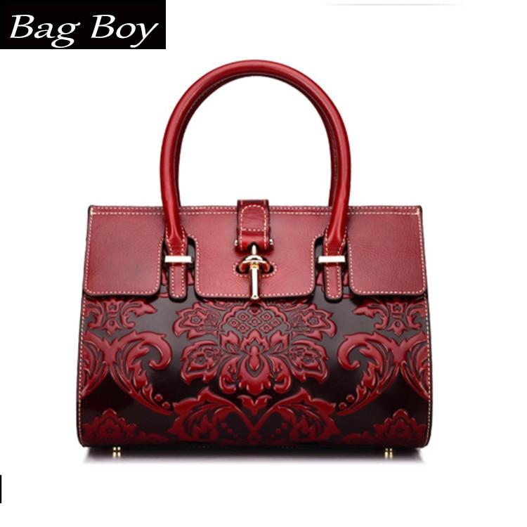 2018 Style chinois Style chinois de luxe sac en cuir femmes sacs à main Vintage décontracté fourre-tout sac célèbre marque épaule sac à bandoulière