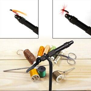 Image 5 - MNFT 1 sztuk obrotowy c clamp wiązanie muchowe imadło DIY matowy czarny żelaza wiązania imadło muchy Fly Hook narzędzie dla początkujących podróżnych