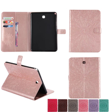 Leather-based Case For Samsung Galaxy Tab A eight.zero T350 T351 T355 P350 Cowl Fundas Pill flowers sample Delicate Silicone Protecting Shell