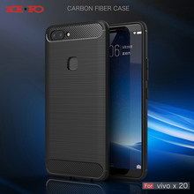 Phone Case For Vivo Y53 Y66 Y67 Y69 Carbon Fiber Soft TPU Silicone Brushed  Anti-knock Back Cover For Vivo V7 X7 X9 X9S X20 Plus 15a09651de30