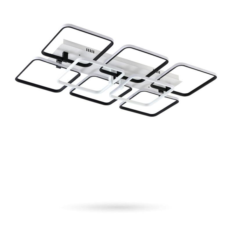 Modern LED Black Chandelier Lighting For Dining Living Room Bedroom Home Decor Ceiling Dimming Aluminum Lampadario