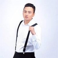 Men Shirt Stays Garters Suspenders Braces For Shirts Gentleman 4 Steel Clips Elastic Men Shirt Suspenders