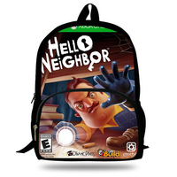 New Hot Hello Neighbor Funny Game 3D Printing Schoolbag For School Boys Girls Fashion Casual Backpack For Kids Students